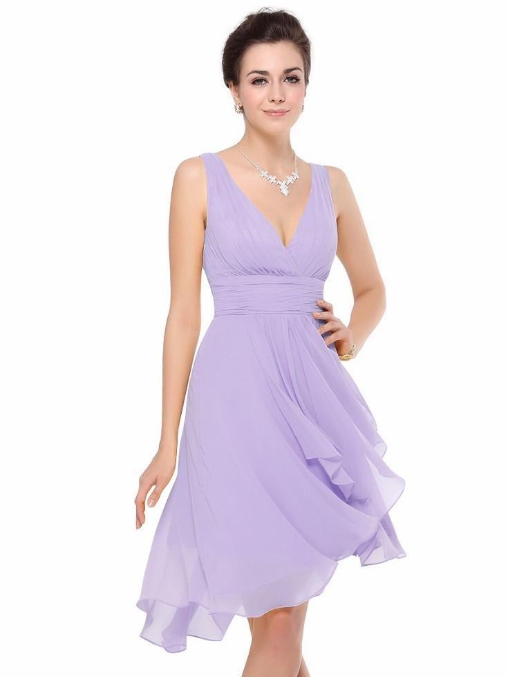 Gorgeous MIA Lilac Chiffon Bridesmaid Evening Wedding Races Dress ...