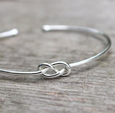 Sterling Silver Bridesmaid Bracelet Infinity Jewelry Set Or Single Tie The Knot Gift