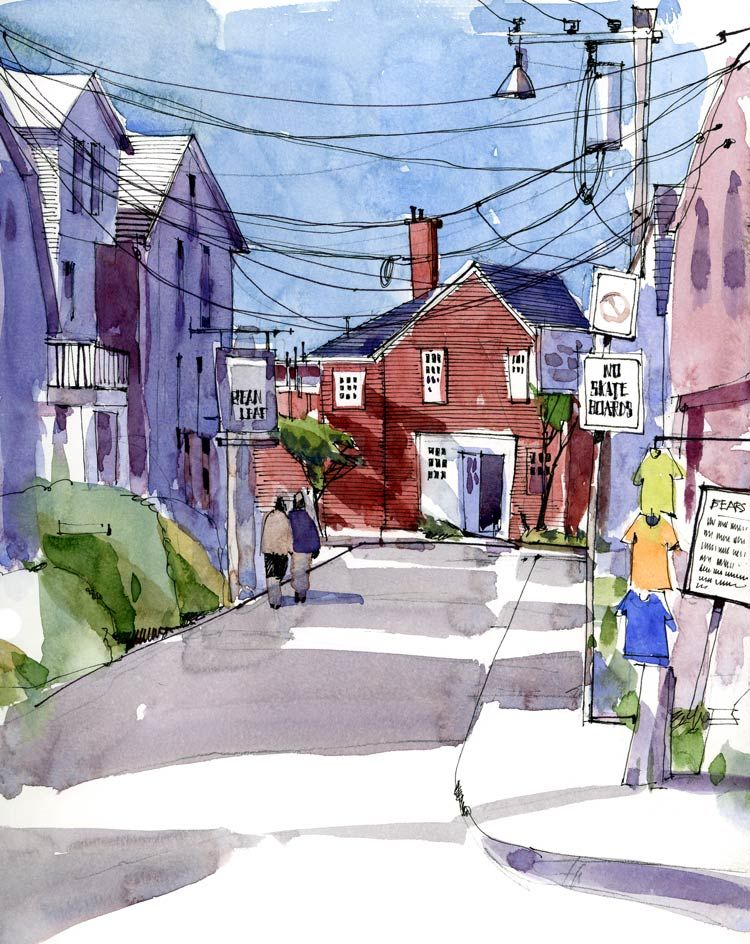 Bearskin Neck with wires