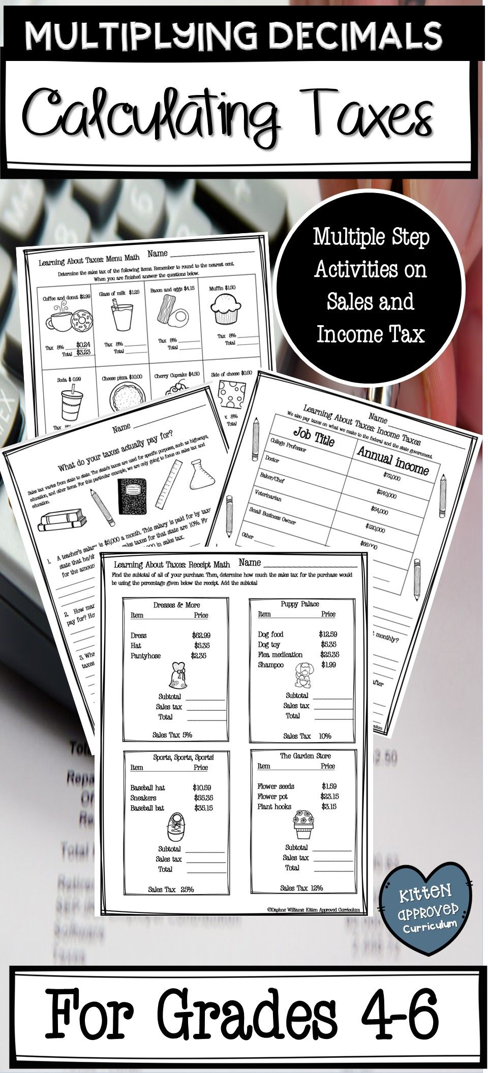 At Home Math Resources Adding and Subtracting Decimals