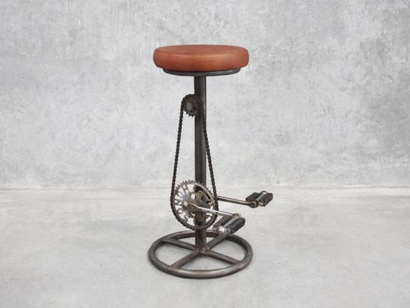 Industrial Bike Pedal Bar Stool Indoor Decor Pinterest