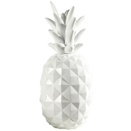 Textured pineapple decor in white.   Product: Pineapple décorConstruction Material: ResinColor: