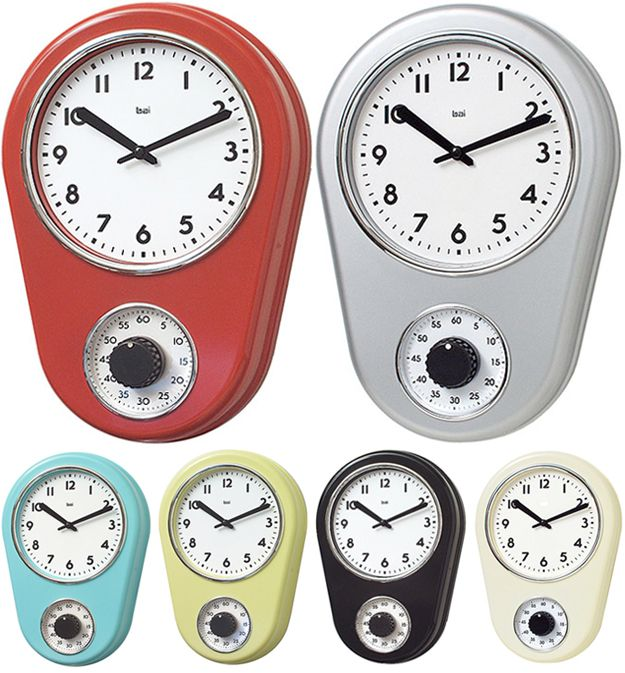 Kitchen Timer Wall Clock Retro Kitchen Clocks Kitchen Timers