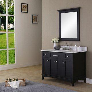 Water Creation Manhattan 48 Inch Dark Espresso Single Sink Bathroom Vanity And Manhat Single Sink Bathroom Vanity Bathroom Sink Vanity White Marble Countertops