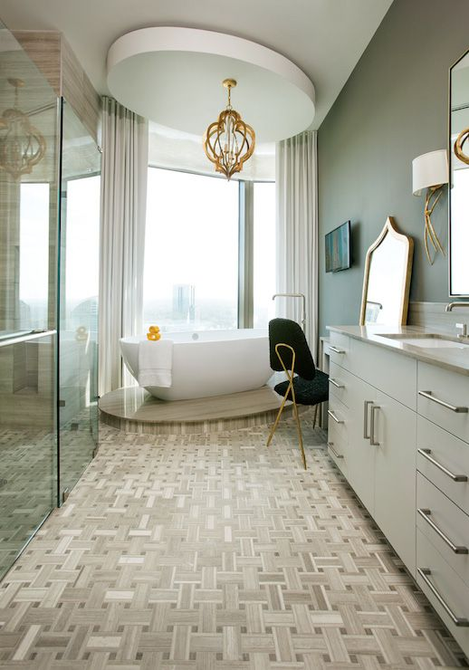 Atlanta Homes Lifestyles Bathrooms Regina Andrew Pattern - Bathroom maker