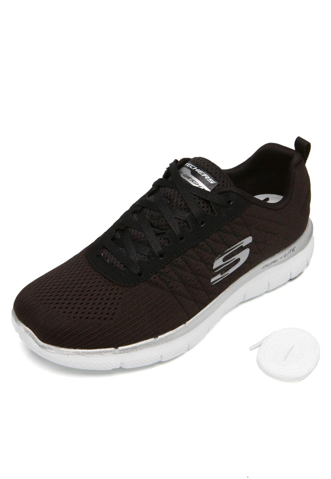 Tênis Skechers Flex Appeal 2.0 Marrom | Marrom, Sapatos e Tenis