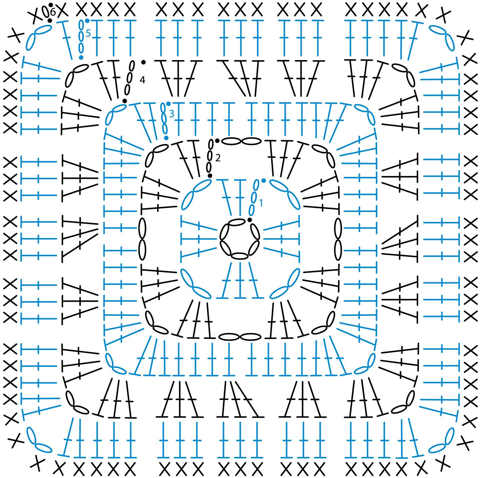 crochet granny square diagram cat 3 wiring rj45 pin by radiant hope on collection pinterest blocks patterns motifs squares