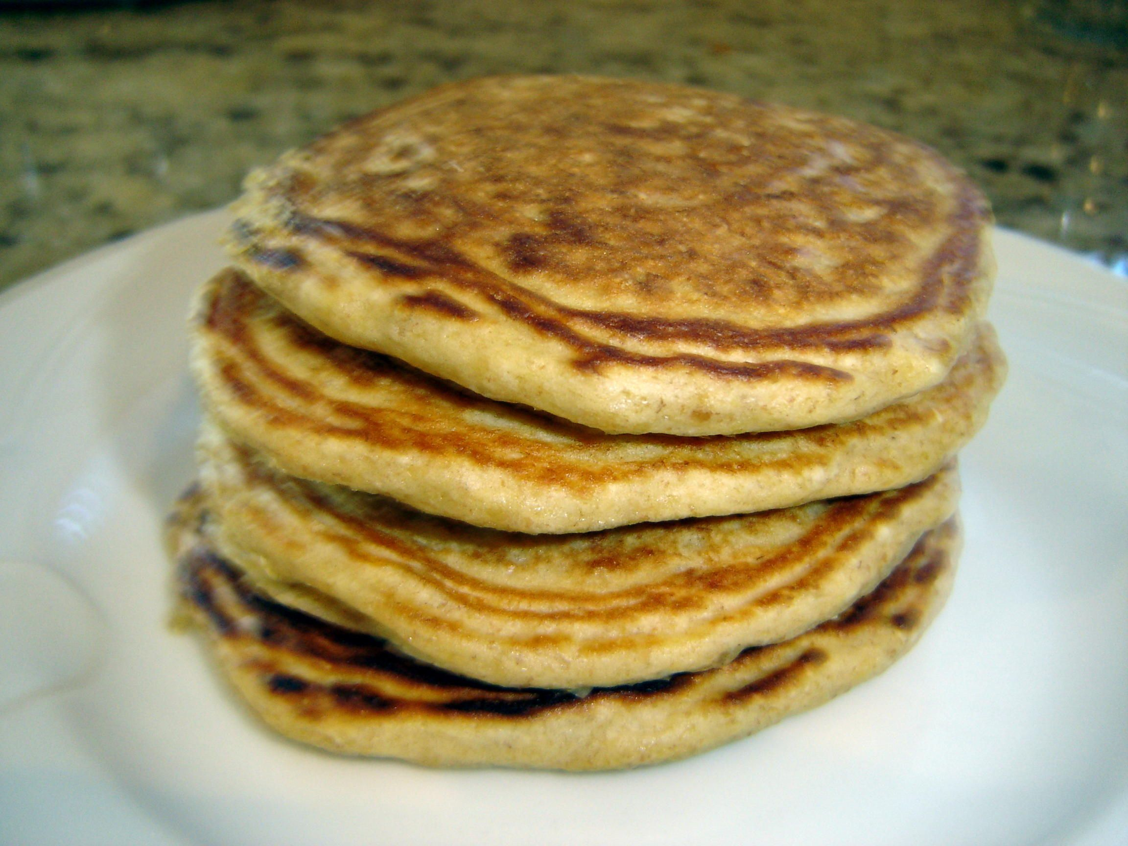 Oat and Wheat Germ Pancakes