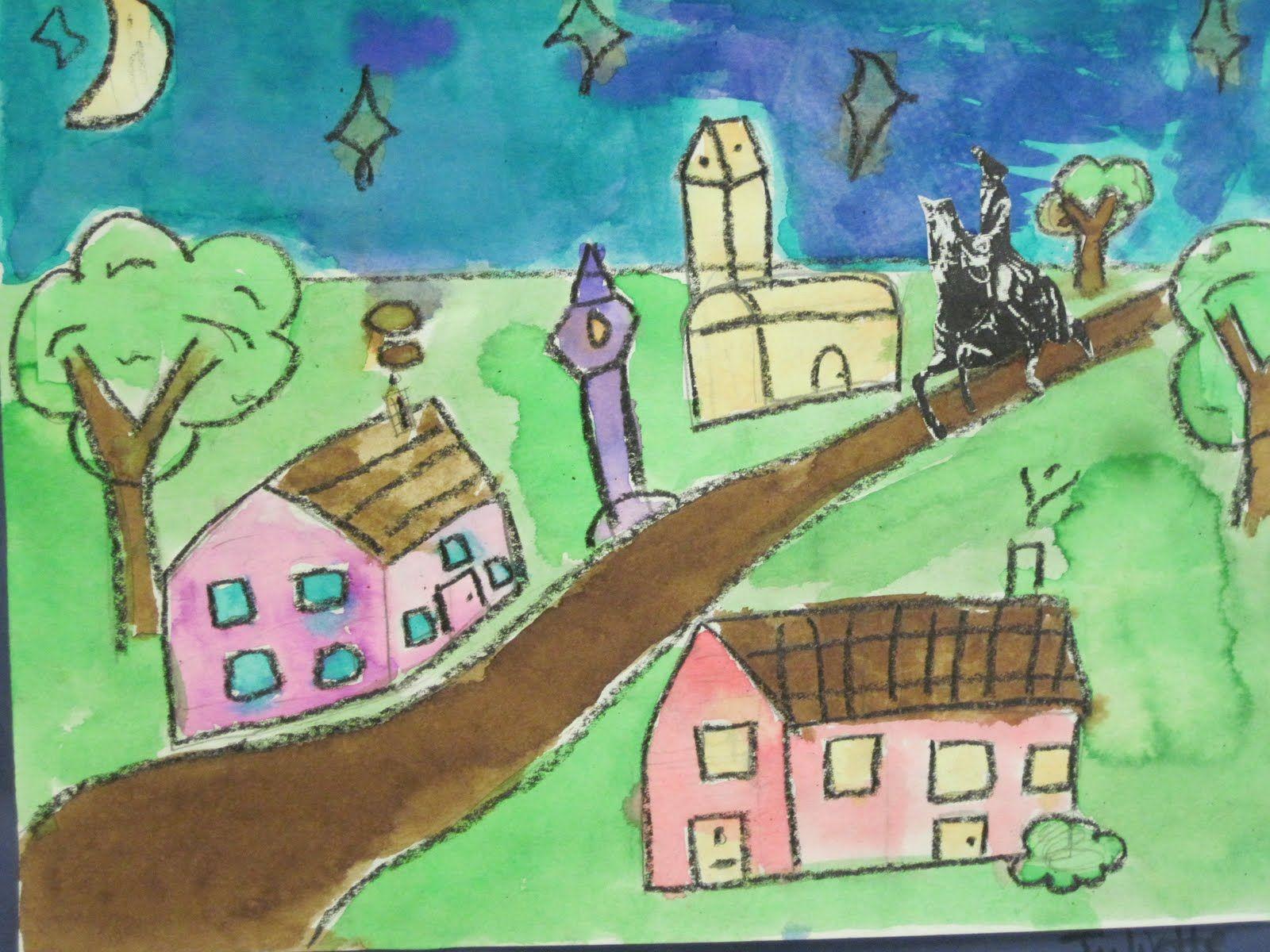 Kids Drawing Of Paul Revere S Ride