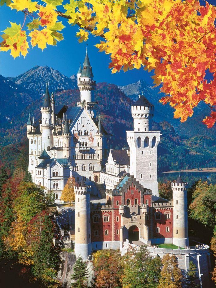 Ravensburger Neuschwanstein Castle In Autumn Cardboard Puzzle 1500 Pcs 16386 Ravensburger 궁전