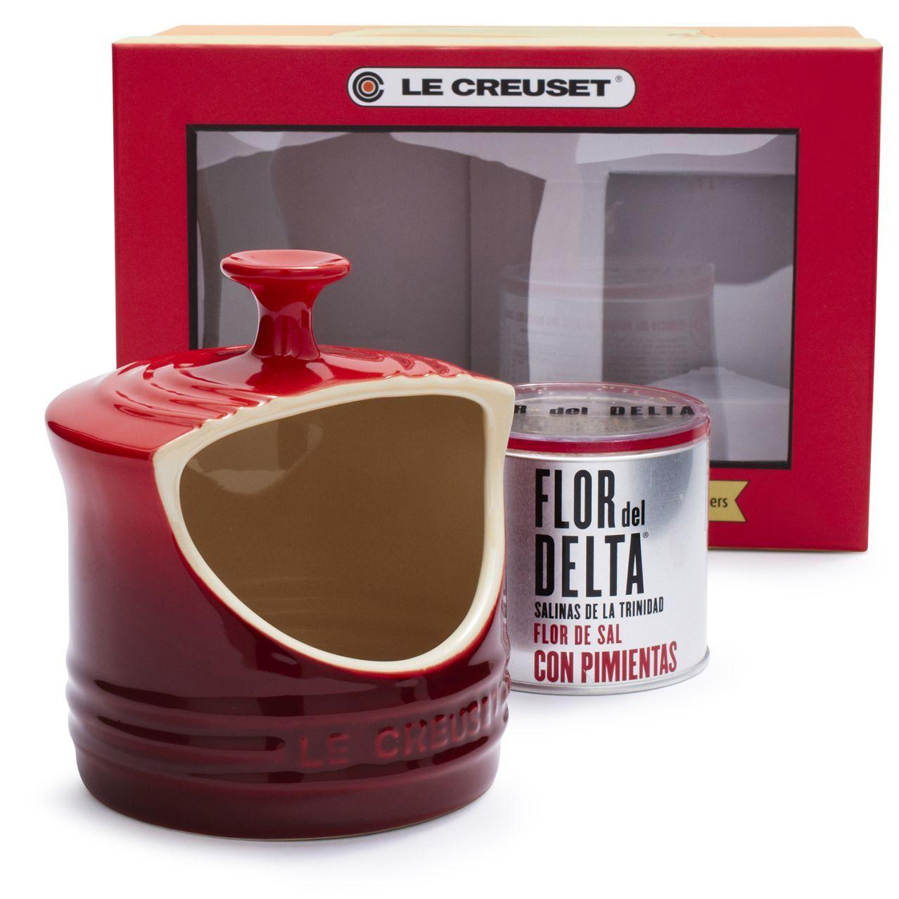 Le Creuset Cherry Sea Salt Gift Set | Sur La Table