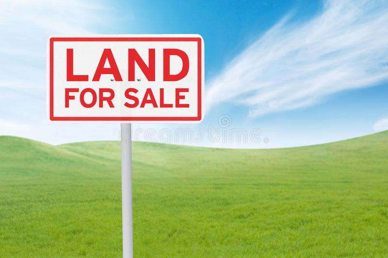 Signboard With Land For Sale Text Real Estate Concept Land For