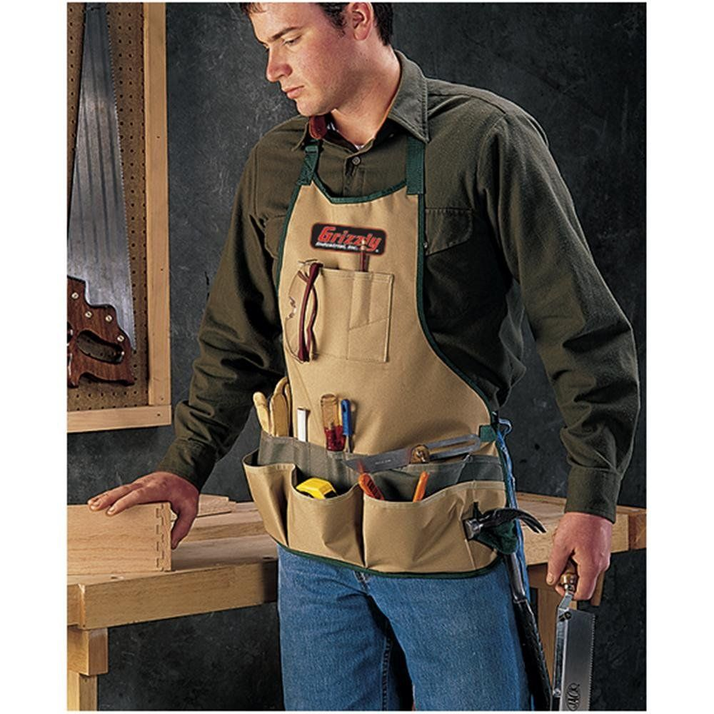 grizzly h2922 carpenter's bib apron - tool aprons - amazon