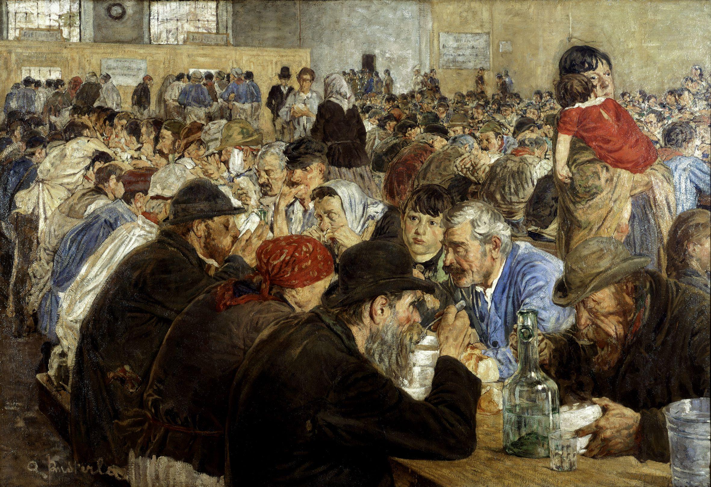 Attilio Pusterla, Alle cucine economiche di Porta Nuova, 1887. GAM ...