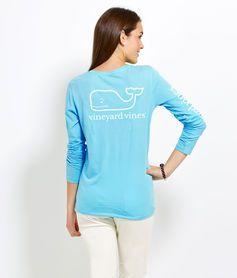 Women s T-Shirts  Long-Sleeve Whale Print Tee for Women - Vineyard Vines 8e1284a56e