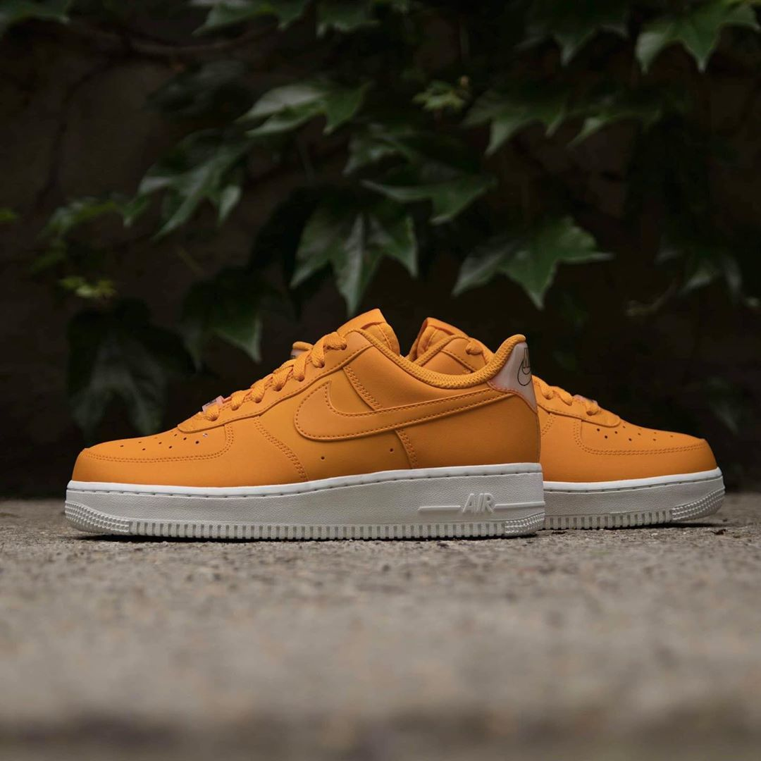 Details about 6 women's Nike Air Force 1 LOW AO2132 801 ORANGE WHITE RUNNING CASUAL SNEAKERS