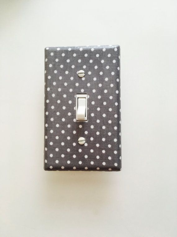 Grey Polka Dot Light Switch Plate Grey Switch Cover Girls Outlet
