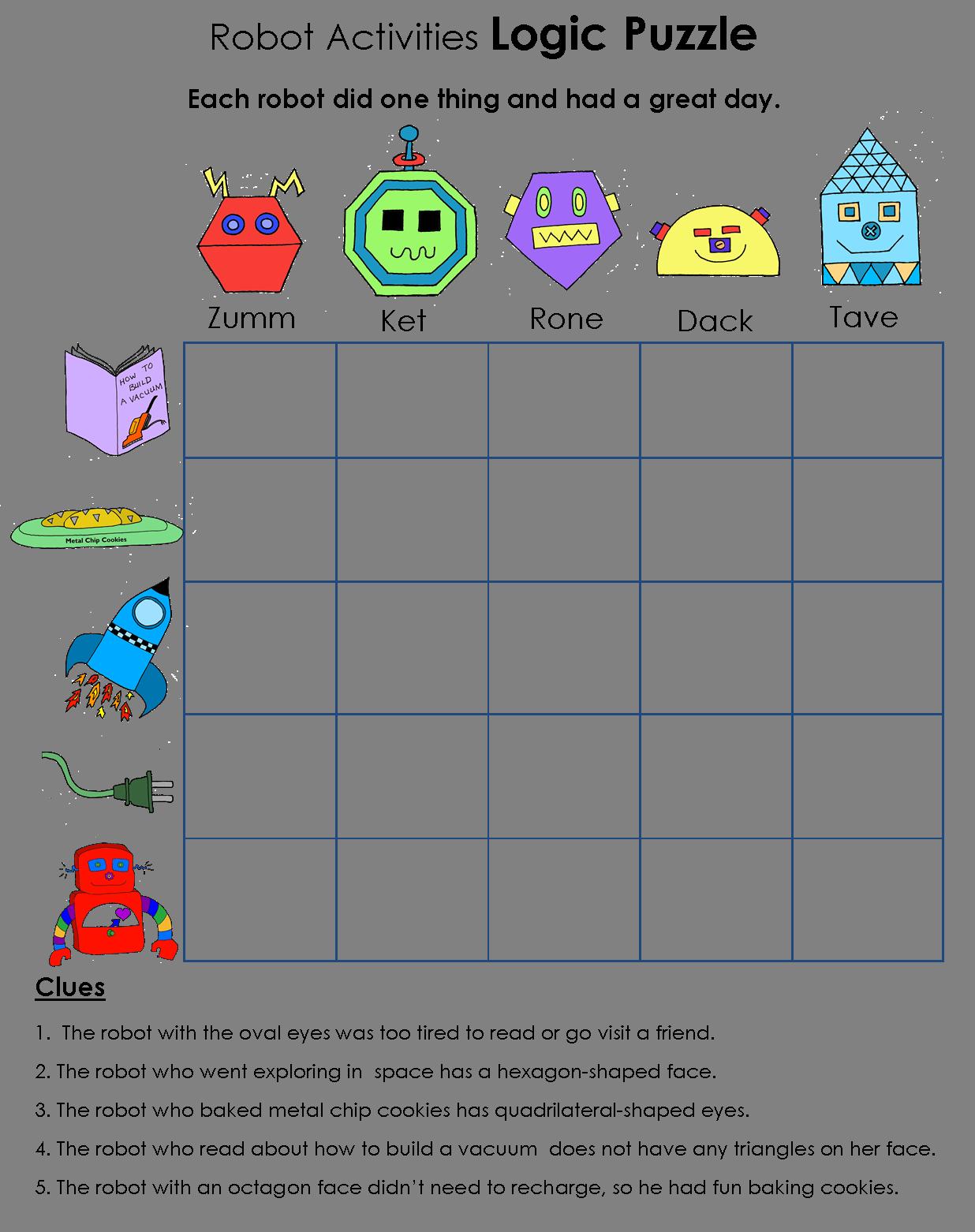 Geometry Logic Worksheets - Kidz Activities