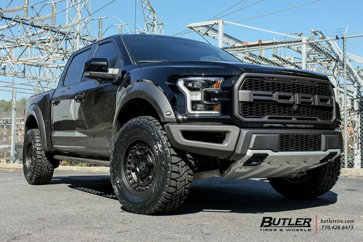 2017 Ford Raptor With 18in Black Rhino Armory Wheels