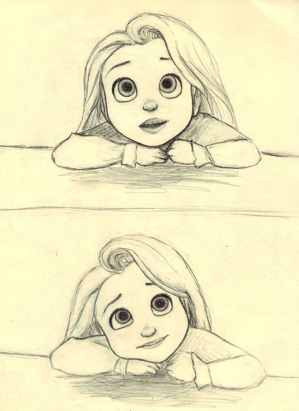 Little Rapunzel (c) Glen Keane & Disney  Cartoon drawings, Disney
