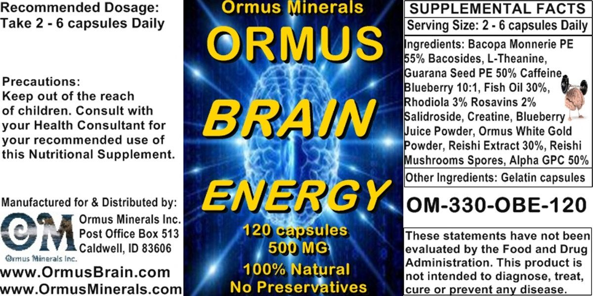 Ormus Brain Energy | (ORMUS MINERALS)-FULVIC ACID MINERALS