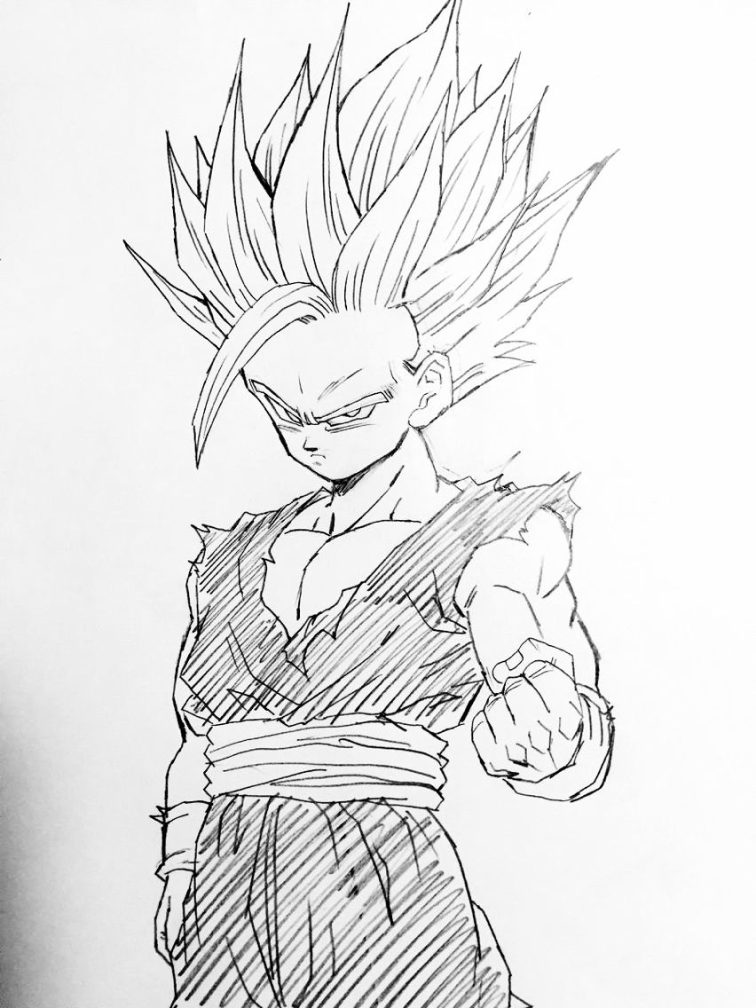 quot Super Saiyan 2 quot drawn by Young Jijii Found by