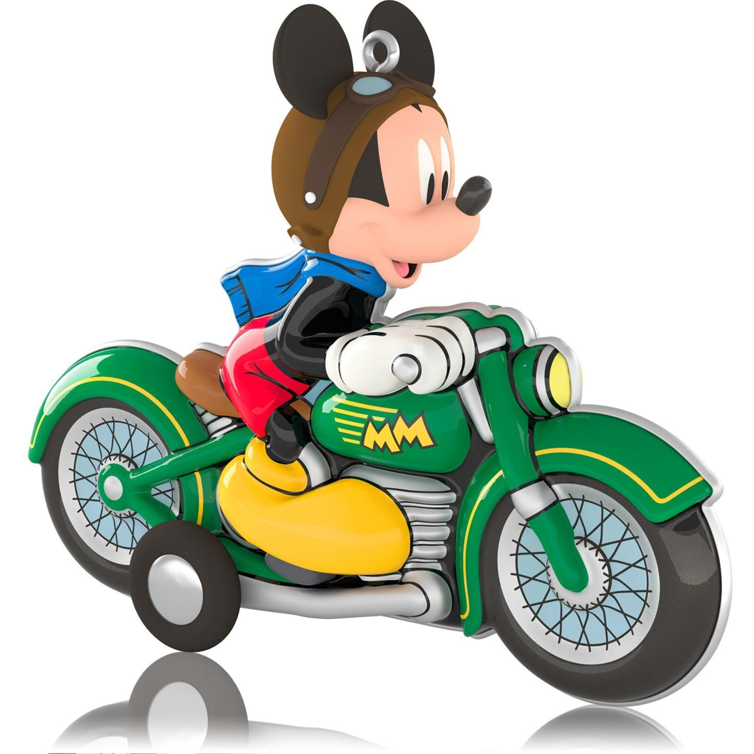 Mickey Mouse On His Motorcycle
