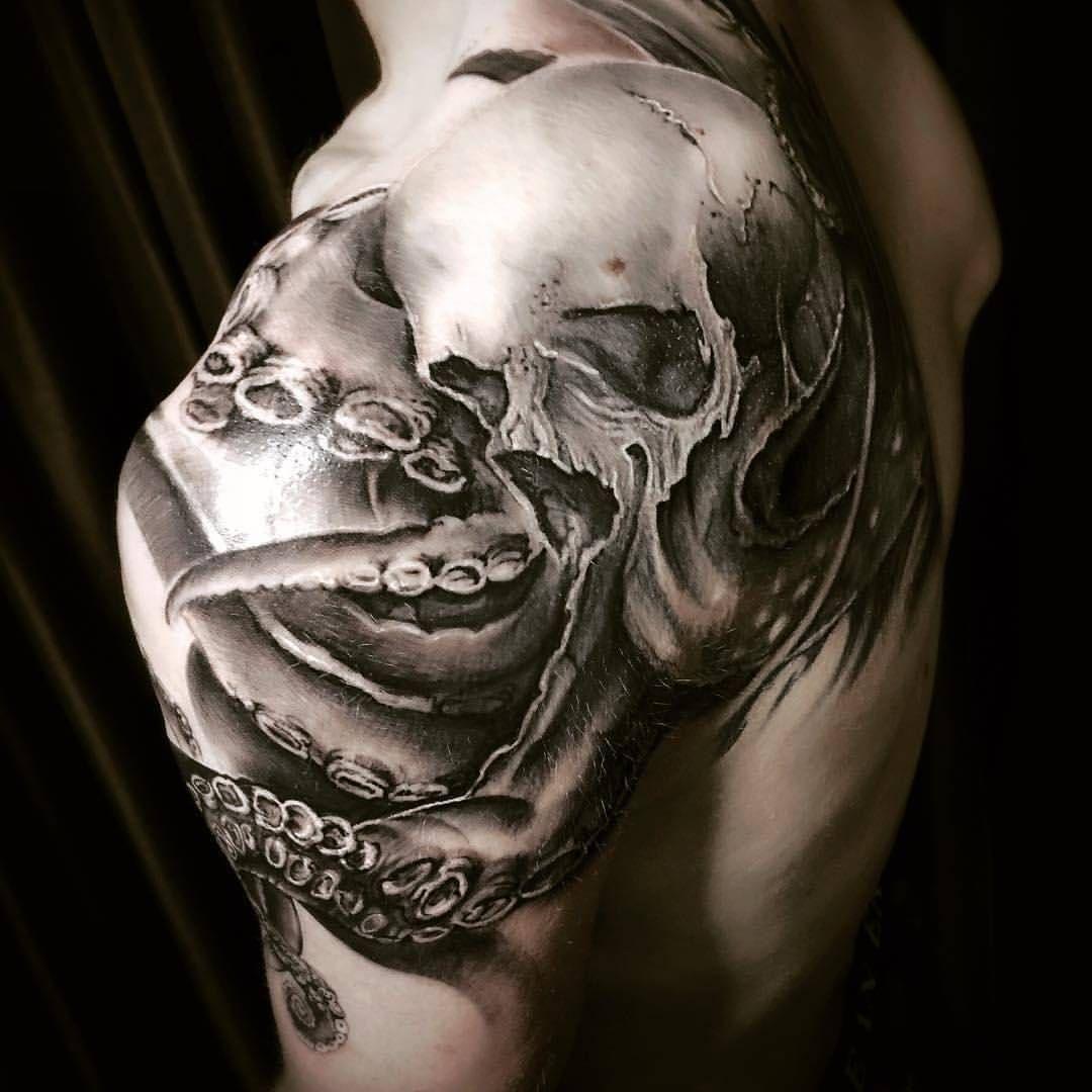 Chronic ink yonge eglinton toronto realism skull octopus