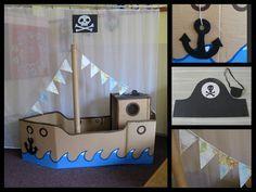 Piratenboot basteln pinterest - Piraten deko basteln ...