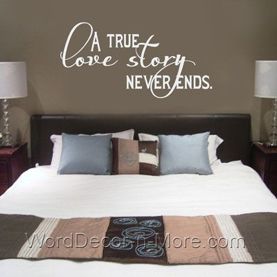 A True Love Story Bedroom Wall Quote True Love Story Wall Words