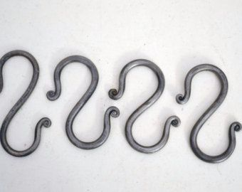 Hand Forged Wrought Iron S Hooks With Images Forged Iron