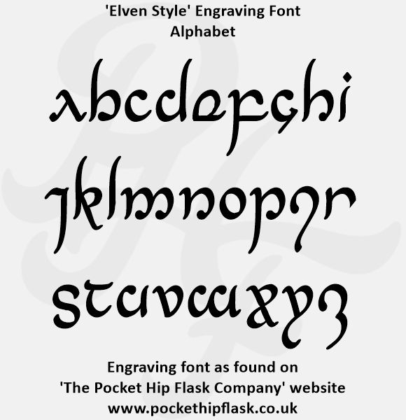 Elven Style Engraving Font | Engraving fonts, Fonts, Tattoo designs