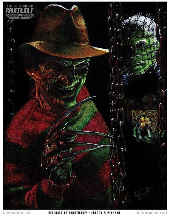 Hellraising Nightmare - Print by Monica RavenWolf Horror/Gothic