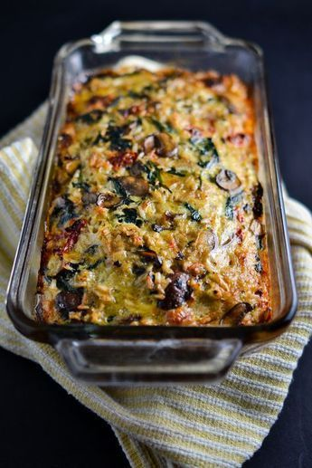 Mushroom, Spinach, and Brown Rice Loaf | Things I Made Today #dishesfordinner
