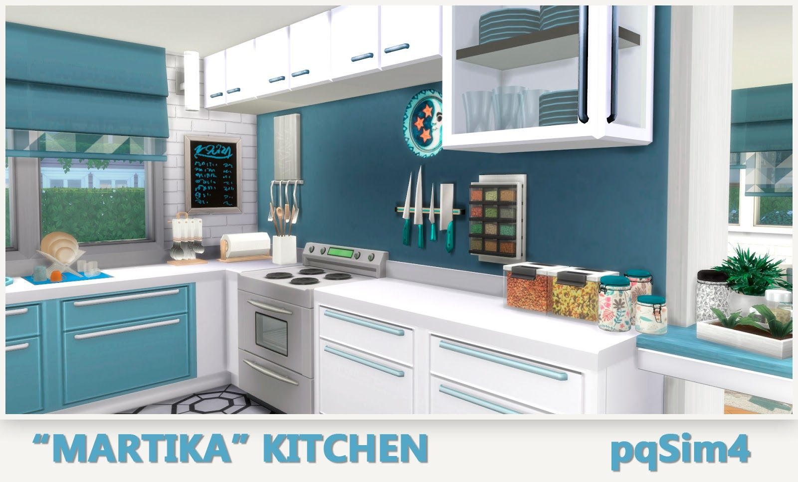Sims 4 mm cc maxis match kitchen set sims 4 cc for Kitchen set pinterest