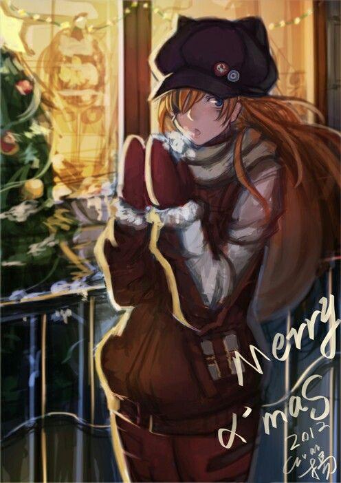 Asuka Christmas   Neon Genesis Evangelion   Pinterest   Neon ...