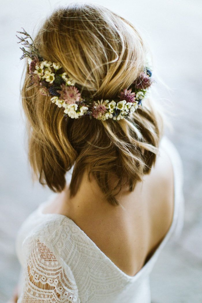Min Fredagsbukett Krans Med Stjarnflocka Och Tistel Volang Blumenkranz Haare Frisur Blumenkranz Hochzeitsfrisuren