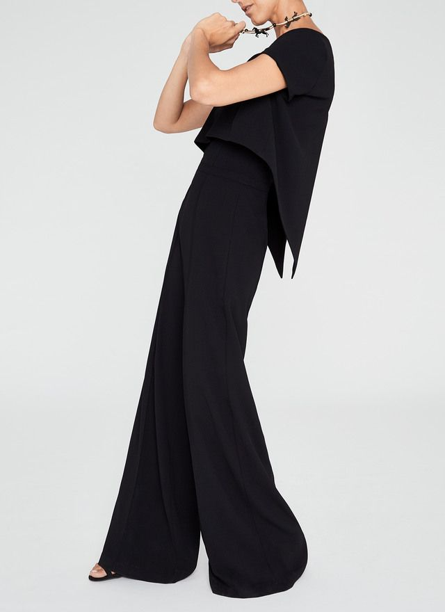 c65ec7b5d234 Palazzo Jumpsuit With Overlay - Dresses black