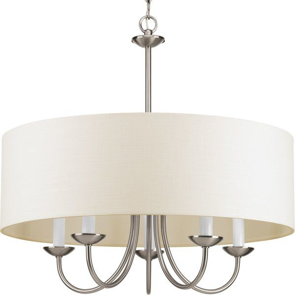 Burton 5 Light Shaded Drum Chandelier Drum Shade Chandelier