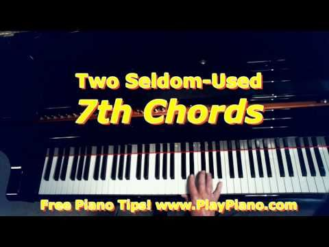 The Half Diminished 7th Piano Chord And The Majorminor 7th Chord