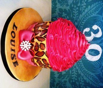 Leopard Print Cupcake little cake parlour Desserts Pinterest