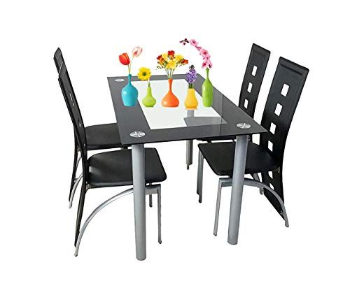Fine Prettyshop4246 Elegance Your Home With Modern Dining Set 5 Forskolin Free Trial Chair Design Images Forskolin Free Trialorg