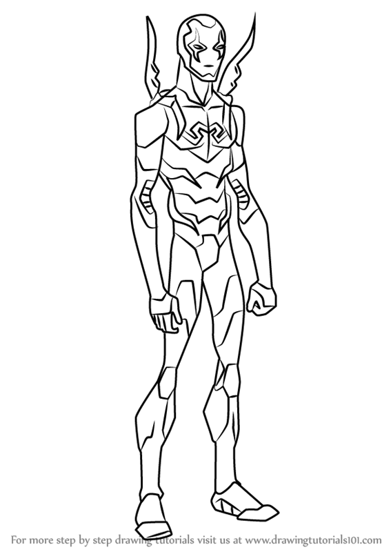 Learn How to Draw Blue Beetle from Young Justice (Young Justice ...