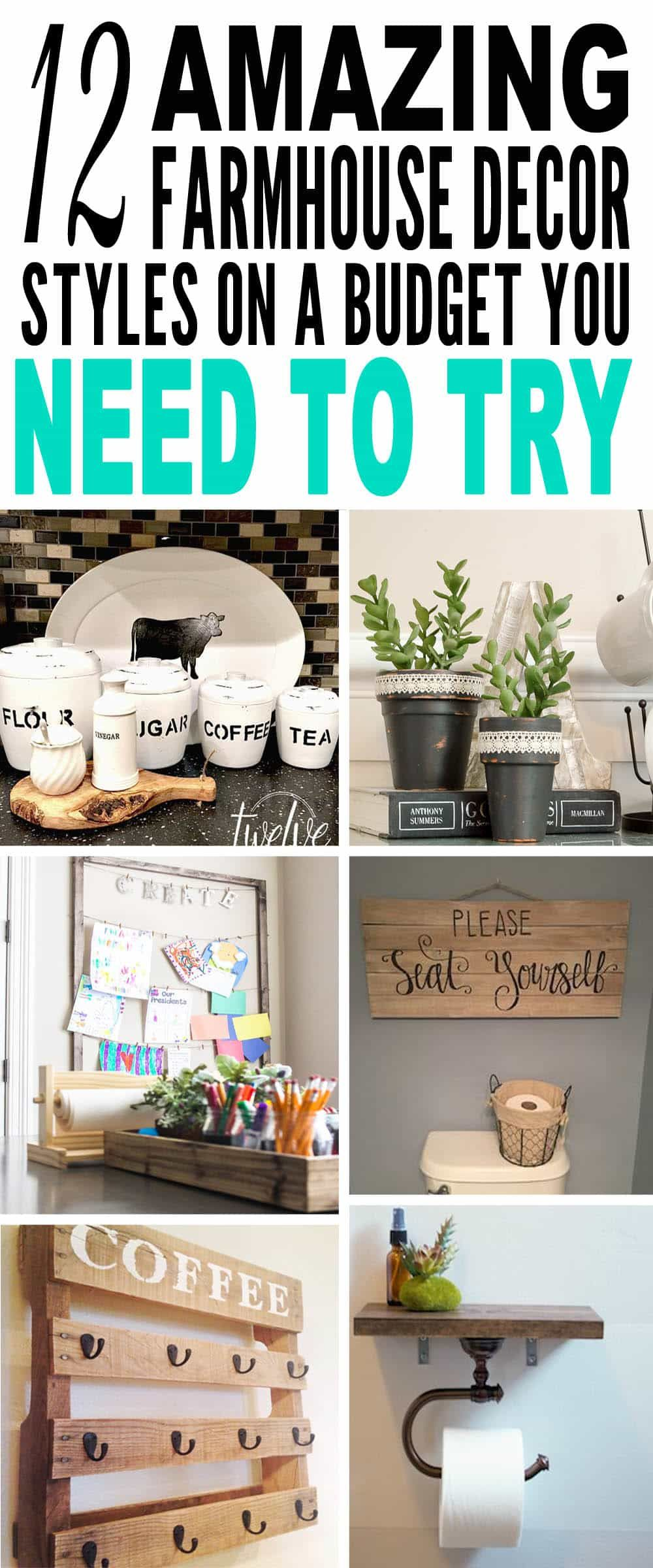 12 Amazing Farmhouse Decor Styles On A Budget You Need To Try -   24 farmhouse style on a budget