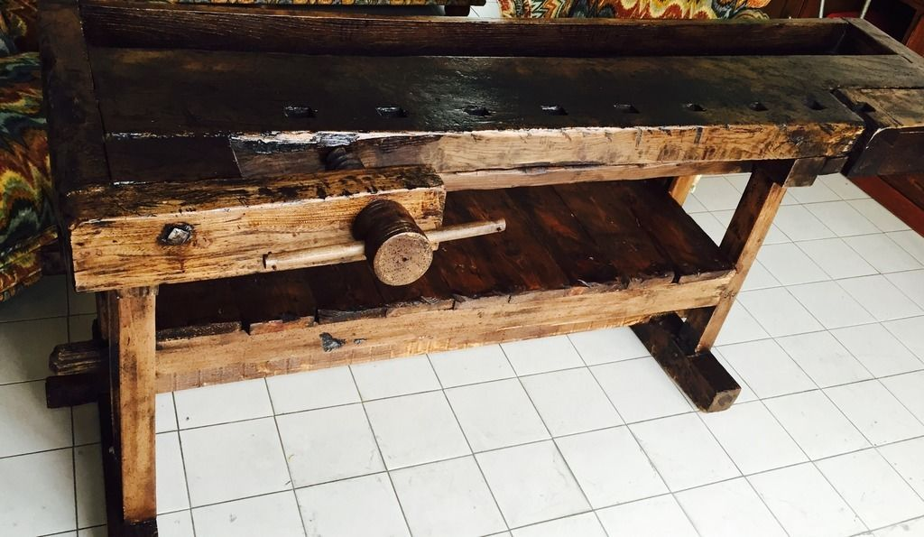 Tavolo Da Lavoro Antico : Stupendo antico banco tavolo da lavoro falegname in legno primi
