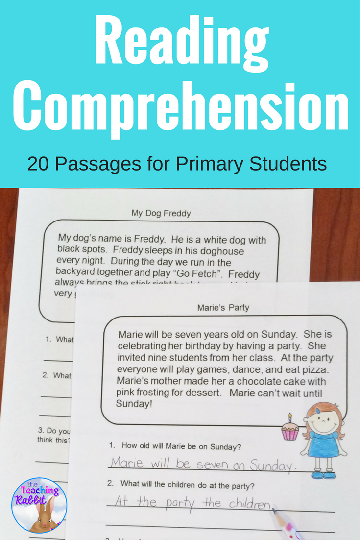 Reading Comprehension Passages (Second Grade) | Reading ...