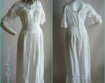Trending Vintage s White Mexican Wedding Dress with sheer lace and