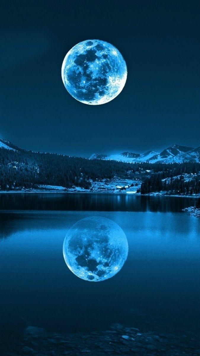 Lua refletindo na água