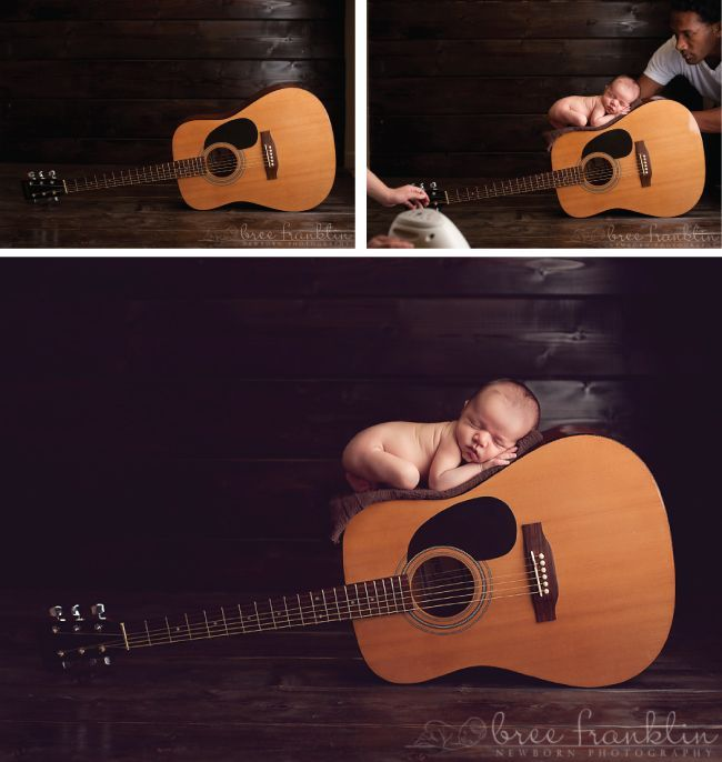Photography Props and Ideas The following images were sent to us courtesy of Bree Franklin Photography. Her creative newborn photos below are centered around the concept of music. Notice how she puts safety first in her imagery and uses the technique of compositing images to achieve her final vision.The following images were sent to us ...