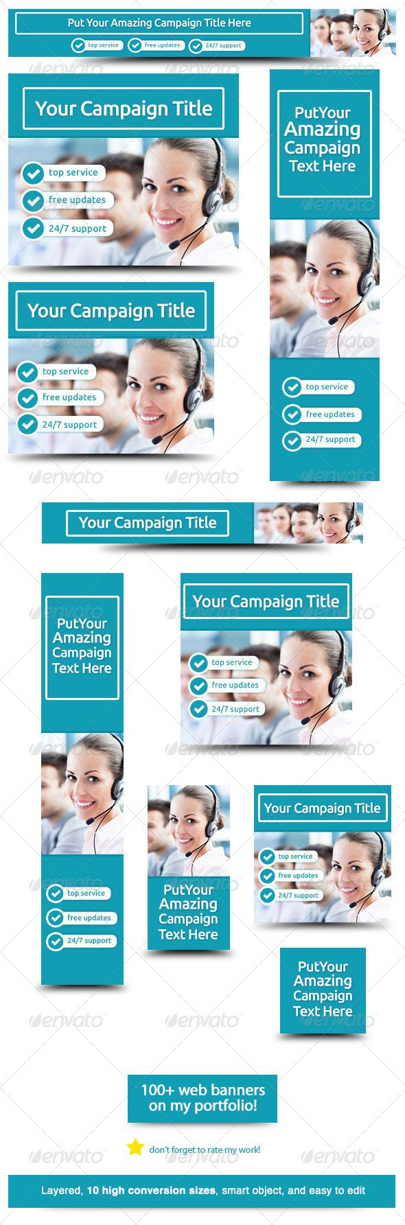 Corporate Web Banner Design Template 30 | Web banner design and ...